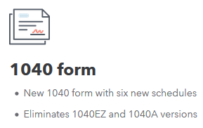 new 1040 form schedules