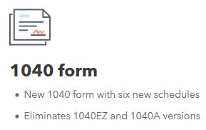 new 1040 form schedules