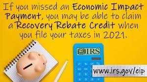 recovery rebate credit 2020